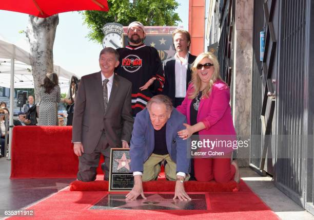 Actors Kevin Smith David Spade Hollywood Chamber of Commerce President CEO Leron Gubler actor George Segal and Hollywood Chamber of Commerce Chair of...