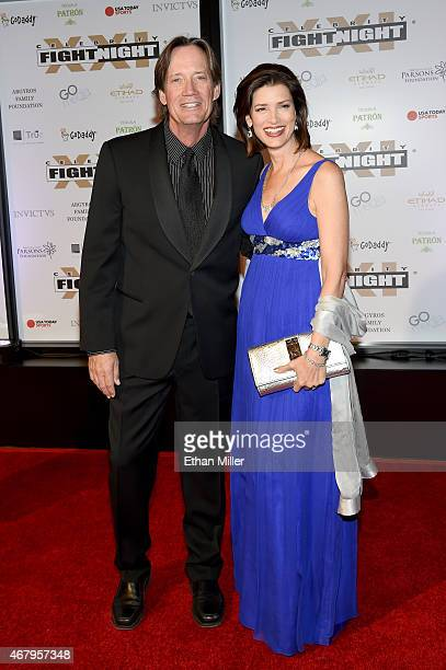 Actors Kevin Sorbo and Sam Sorbo attend Muhammad Ali's Celebrity Fight Night XXI at the JW Marriott Phoenix Desert Ridge Resort Spa on March 28 2015...