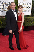 Actors Kevin Spacey and Kate Mara attend the 72nd Annual Golden Globe Awards at The Beverly Hilton Hotel on January 11 2015 in Beverly Hills...