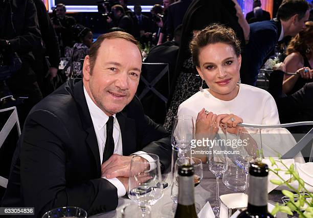 Actors Kevin Spacey and Natalie Portman attend The 23rd Annual Screen Actors Guild Awards at The Shrine Auditorium on January 29 2017 in Los Angeles...
