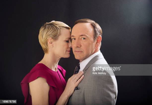 Actors Kevin Spacey and Robin Wright are photographed for Los Angeles Times on April 25 2013 in Beverly Hills California PUBLISHED IMAGE CREDIT MUST...