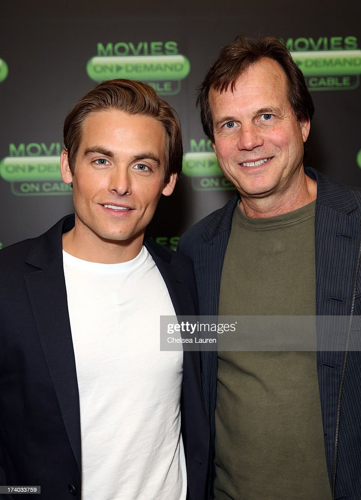 Actors Kevin Zegers (L) and Bill Paxton attend 'The Colony' at The Movies On Demand Lounge during Comic-Con International 2013 at Hard Rock Hotel San Diego on July 19, 2013 in San Diego, California.