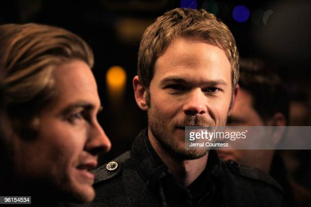 Actors Kevin Zegers and Shawn Ashmore attend the 'Frozen' premiere during the 2010 Sundance Film Festival at Egyptian Theatre on January 24 2010 in...