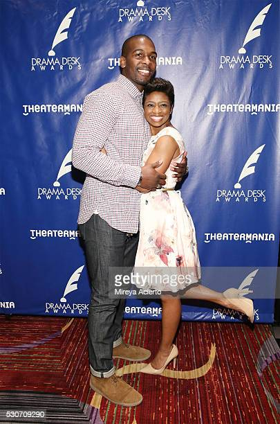 Actors Khris Davis and Montego Glover attend the 2016 Drama Desk Awards Nominees Reception at The New York Marriott Marquis on May 11 2016 in New...