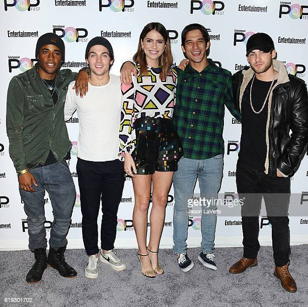Actors Khylin Rhambo Dylan Sprayberry Shelley Hennig Tyler Posey and Cody Christian attend Entertainment Weekly's Popfest at The Reef on October 30...