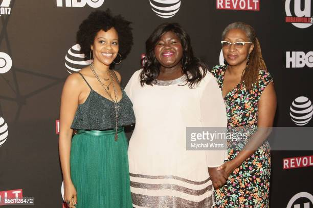 Actors Kia Perry Gabby Sidibe and Lisa Cortes attend the 21st Annual Urban Film Festiva at AMC Empire 25 theater on September 20 2017 in New York City