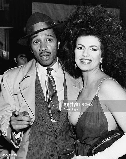 Actors Kid Creole and Cleo Rocos at the Hard Rock Cafe in London April 3rd 1985