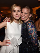 Actors Kiernan Shipka and Anna Chlumsky attend the 2015 Entertainment Weekly PreEmmy Party at Fig Olive Melrose Place on September 18 2015 in West...