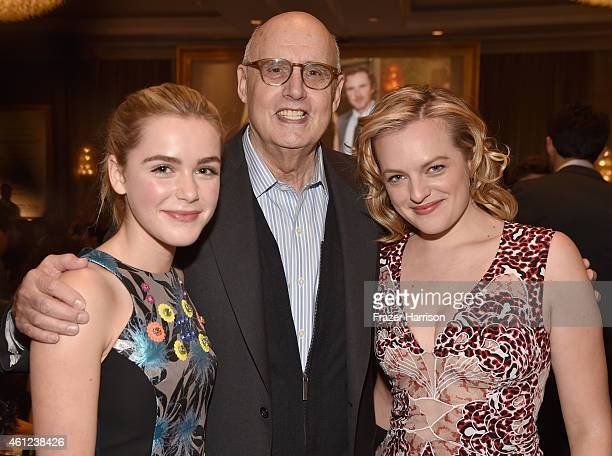 Actors Kiernan Shipka Jeffrey Tambor and Elisabeth Moss attend the 15th Annual AFI Awards at Four Seasons Hotel Los Angeles at Beverly Hills on...