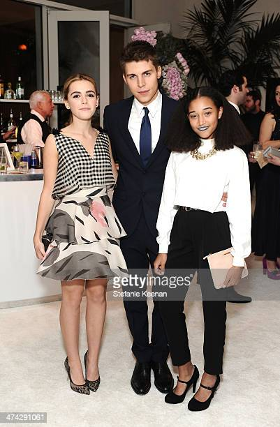 Actors Kiernan Shipka Nolan Gerard Funk and Amandla Stenberg attend the 16th Costume Designers Guild Awards with presenting sponsor Lacoste at The...