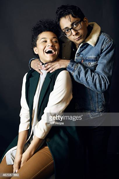 Actors Kiersey Clemons and Tony Revolori from 'Dope' pose for a portrait at the Village at the Lift Presented by McDonald's McCafe during the 2015...