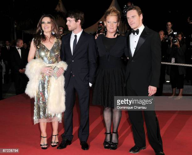 Actors Kierston Wareing Harry Treadaway and director Andrea Arnold Michael Fassbender attend the Fish Tank Premiere at the Grand Theatre Lumiere...