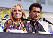 Actors Kim Dickens and Cliff Curtis attend AMC's 'Fear The Walking Dead' panel during ComicCon International 2016 at San Diego Convention Center on...