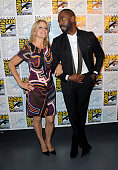 Actors Kim Dickens and Colman Domingo attend AMC's 'Fear The Walking Dead' Panel during ComicCon International 2016 at San Diego Convention Center on...
