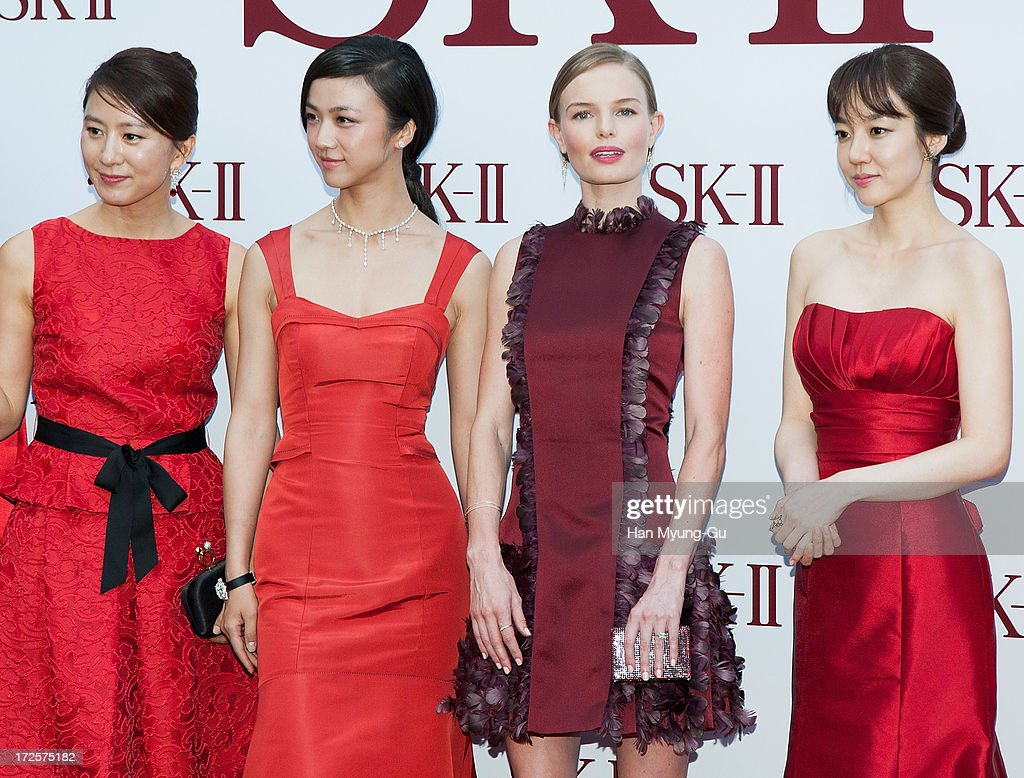 Actors Kim Hee-Ae, Tang Wei, Kate Bosworth and Lim Soo-Jung pose for the photogrpahs during the SK-II Honoring The Spirit Of Discovery event at the Raum on July 3, 2013 in Seoul, South Korea.