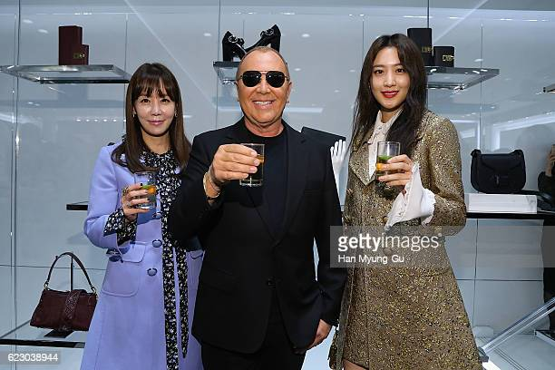 Actors Kim JungEun Claudia Kim aka Kim SooHyeon and Michael Kors attend the Michael Kors Cheongdam Flagship Store Opening Cocktail Party on November...