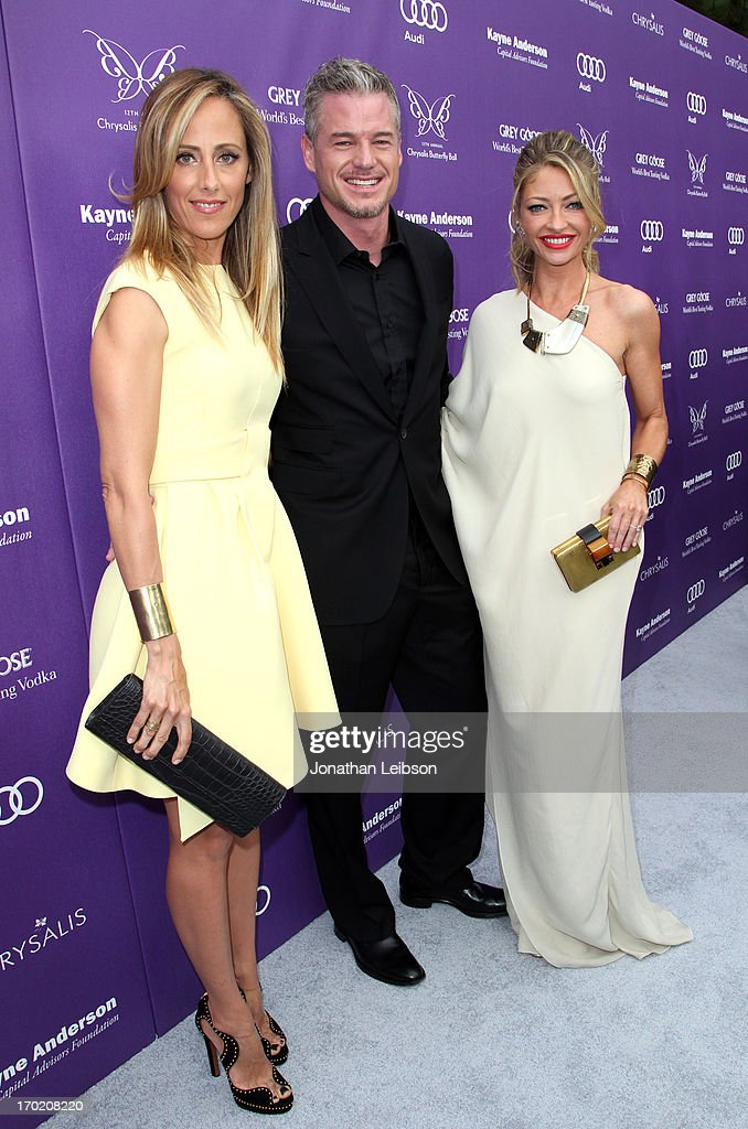 Actors <a gi-track='captionPersonalityLinkClicked' href=/galleries/search?phrase=Kim+Raver&family=editorial&specificpeople=213709 ng-click='$event.stopPropagation()'>Kim Raver</a>, <a gi-track='captionPersonalityLinkClicked' href=/galleries/search?phrase=Eric+Dane&family=editorial&specificpeople=707708 ng-click='$event.stopPropagation()'>Eric Dane</a>, and Chrysalis Co-Chair <a gi-track='captionPersonalityLinkClicked' href=/galleries/search?phrase=Rebecca+Gayheart&family=editorial&specificpeople=204784 ng-click='$event.stopPropagation()'>Rebecca Gayheart</a>-Dane arrive at the 12th Annual Chrysalis Butterfly Ball on June 8, 2013 in Los Angeles, California.