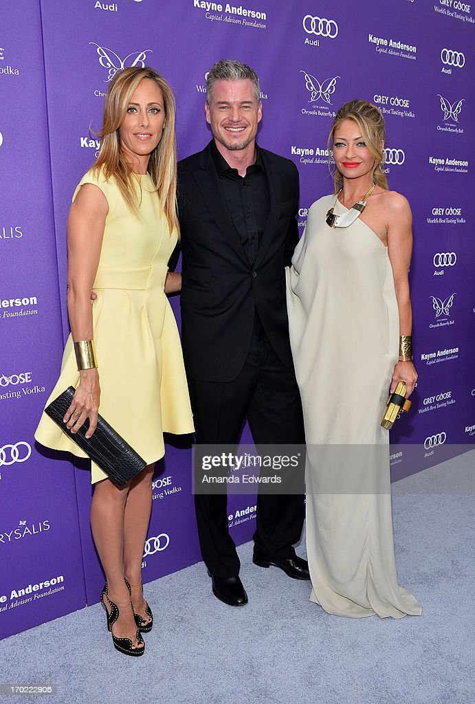 Actors Kim Raver, Eric Dane and Rebecca Gayheart arrive at the 12th Annual Chrysalis Butterfly Ball on June 8, 2013 in Los Angeles, California.