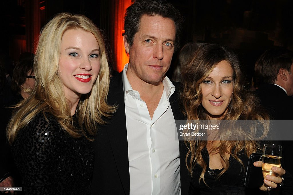Actors Kim Shaw, Hugh Grant and Sarah Jessica Parker attends the premiere of 'Did You Hear About the Morgans?' after party at The Oak Room on December 14, 2009 in New York City.