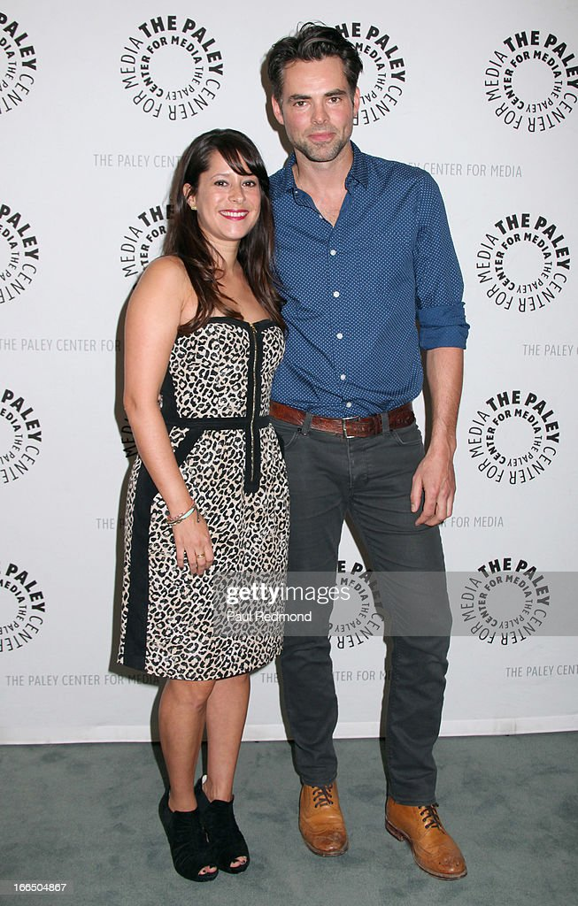 Actors <a gi-track='captionPersonalityLinkClicked' href=/galleries/search?phrase=Kimberly+McCullough&family=editorial&specificpeople=663618 ng-click='$event.stopPropagation()'>Kimberly McCullough</a> and Jason Thompson arrive at The Paley Center For Media Presents 'General Hospital: Celebrating 50 Years And Looking Forward' at The Paley Center for Media on April 12, 2013 in Beverly Hills, California.