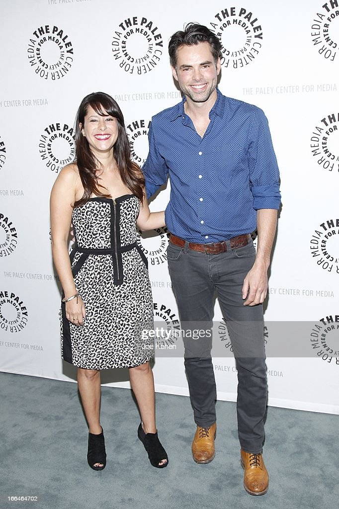 Actors <a gi-track='captionPersonalityLinkClicked' href=/galleries/search?phrase=Kimberly+McCullough&family=editorial&specificpeople=663618 ng-click='$event.stopPropagation()'>Kimberly McCullough</a> and Jason Thompson attends 'General Hospital celebrating 50 years and looking forward' at The Paley Center for Media on April 12, 2013 in Beverly Hills, California.