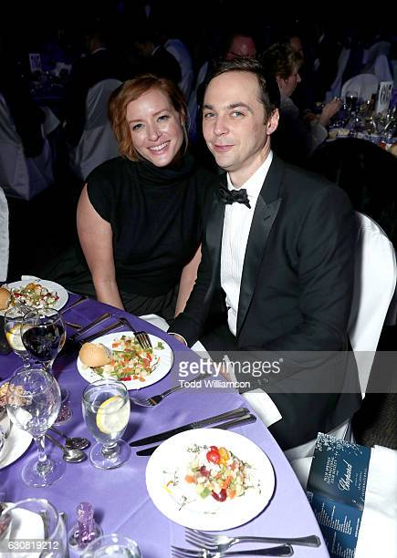 Actors Kimberly Quinn and Jim Parsons attend the 28th Annual Palm Springs International Film Festival Film Awards Gala at the Palm Springs Convention...