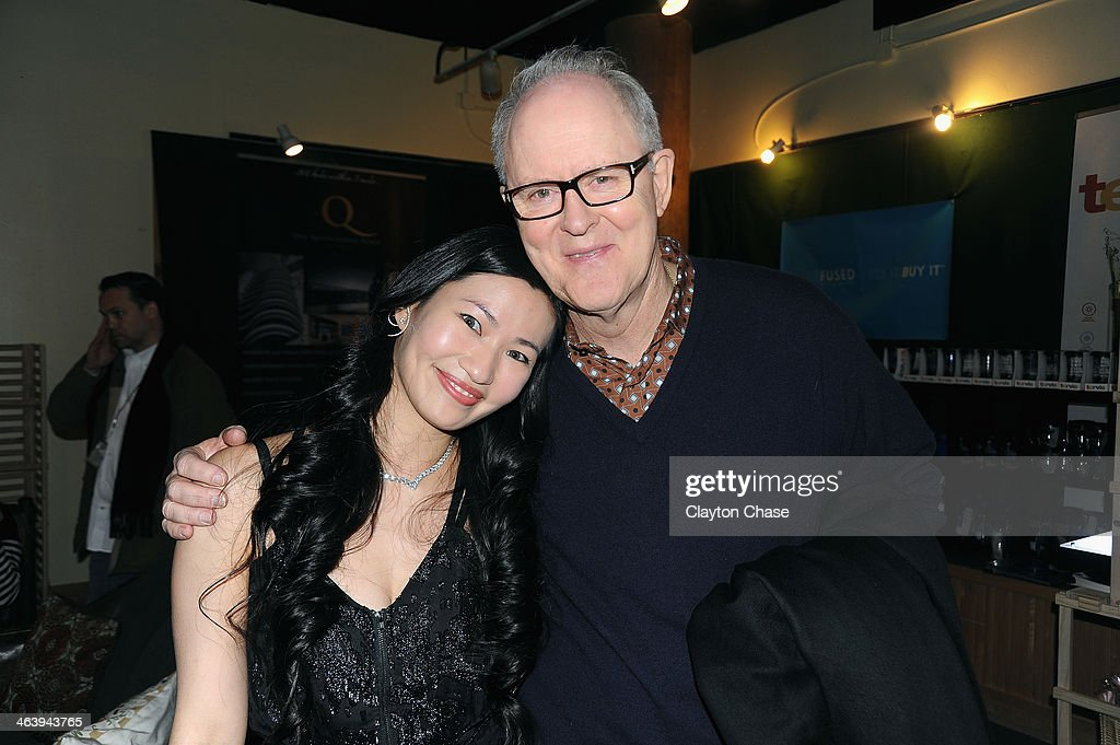 Actors Kimmy Lai and <a gi-track='captionPersonalityLinkClicked' href=/galleries/search?phrase=John+Lithgow&family=editorial&specificpeople=202537 ng-click='$event.stopPropagation()'>John Lithgow</a> attend The 10th Anniversary LG Music Lodge At Sundance With Elio Motors And Tervis on January 19, 2014 in Park City, Utah.