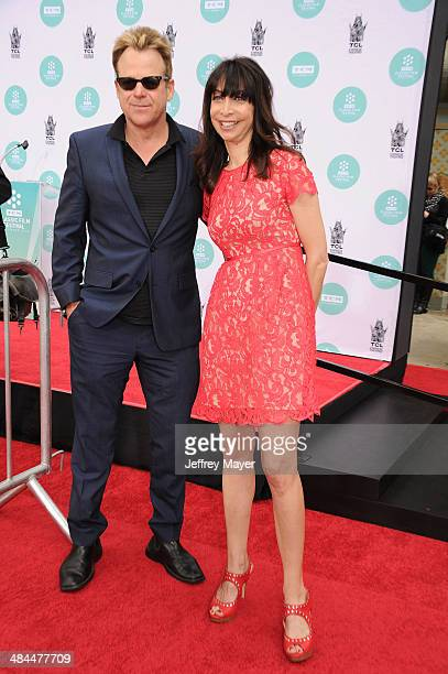 Actors Kin Shriner and Illeana Douglas attend the 2014 TCM Classic Film Festival Jerry Lewis Hand And Footprint Ceremony at TCL Chinese Theatre IMAX...