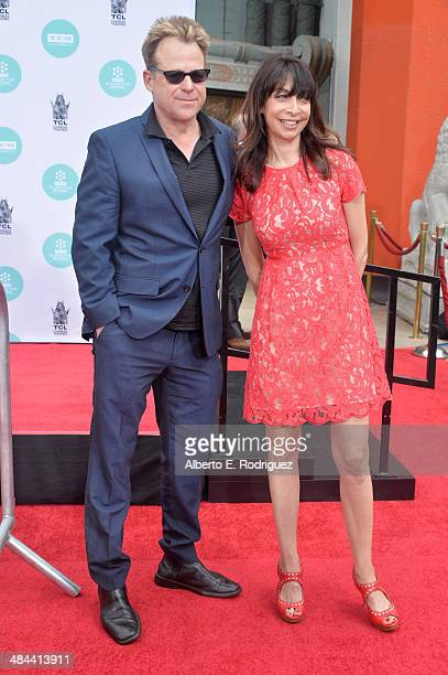 Actors Kin Shriner and Illeana Douglas attend the Jerry Lewis Hand and Footprint Ceremony at TCL Chinese Theatre during the 2014 TCM Classic Film...