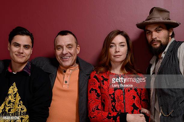 Actors Kiowa Gordon Tom Sizemore Julianne Nicholson and Jason Momoa pose for a portrait during the 2014 Sundance Film Festival at the Getty Images...