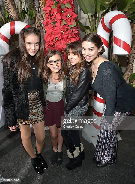 Actors Kira Kosarin Madison Shipman Cree Cicchoni and Lilimar attend a screening of Nickelodeon's Ho Ho Holiday Special at Paramount Studios on...
