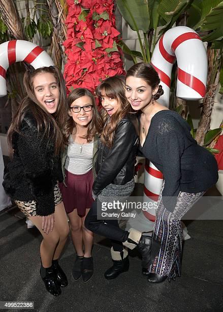 Actors Kira Kosarin Madison Shipman Cree Cicchoni and Lilimar attend a screening of Nickelodeon's Ho Ho Holiday Special at Paramount Studios on...