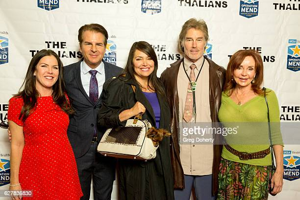 Actors Kira Reed Lorsch Vincent De Paul Devin DeVasquez Ronn Moss and Jacklyn Zeman arrive for The Thalians Presidents Club's 'Holiday Brunch...