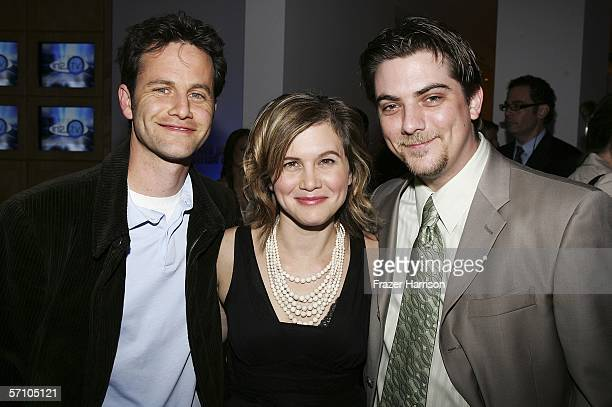 Actors Kirk Cameron Tracey Gold and Jeremy Miller at the AOL and Warner Bros Launch of In2TV at the Museum of TV Radio on March 15 2006 in Beverly...