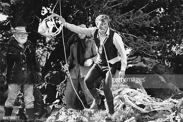 Actors Kirk Douglas stars as Senator William J Tadlock in the film 'The Way West' directed by Andrew V McLaglen USA 1967
