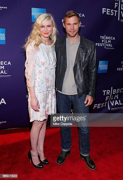 Actors Kirsten Dunst and Brian Geraghty attend the 'Between The Lines' premiere at Village East Cinema on April 23 2010 in New York New York