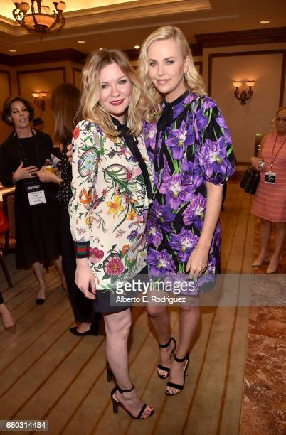 Actors Kirsten Dunst and Charlize Theron at CinemaCon 2017 Focus Features Celebrating 15 Years and a Bright Future at Caesars Palace during CinemaCon...