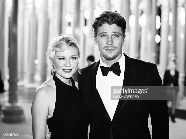 Actors Kirsten Dunst and Garrett Hedlund are photographed at the 2014 LACMA Art Film Gala Honoring Barbara Kruger And Quentin Tarantino Presented By...