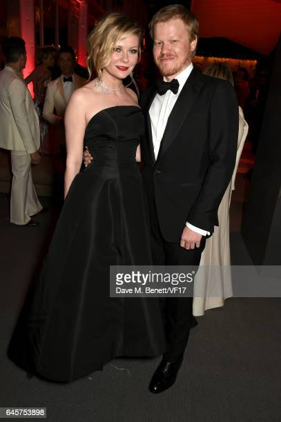 Actors Kirsten Dunst and Jesse Plemons attend the 2017 Vanity Fair Oscar Party hosted by Graydon Carter at Wallis Annenberg Center for the Performing...