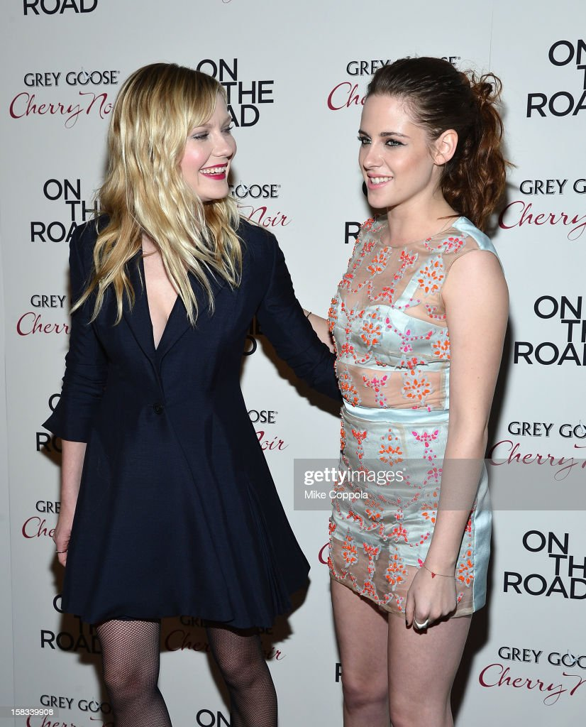 Actors Kirsten Dunst (L) and Kristen Stewart attend 'On The Road' New York Premiere at SVA Theater on December 13, 2012 in New York City.