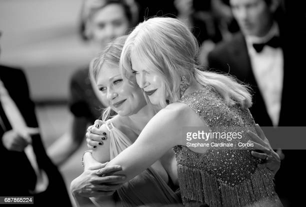 Actors Kirsten Dunst and Nicole Kidman attend 'The Beguiled' premiere during the 70th annual Cannes Film Festival at Palais des Festivals on May 24...