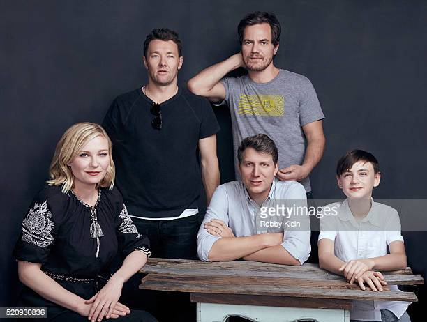 Actors Kirsten Dunst Joel Edgerton Michael Shannon and Jaeden Lieberher with director Jeff Nichols 'Midnight Special' are photographed for The Wrap...