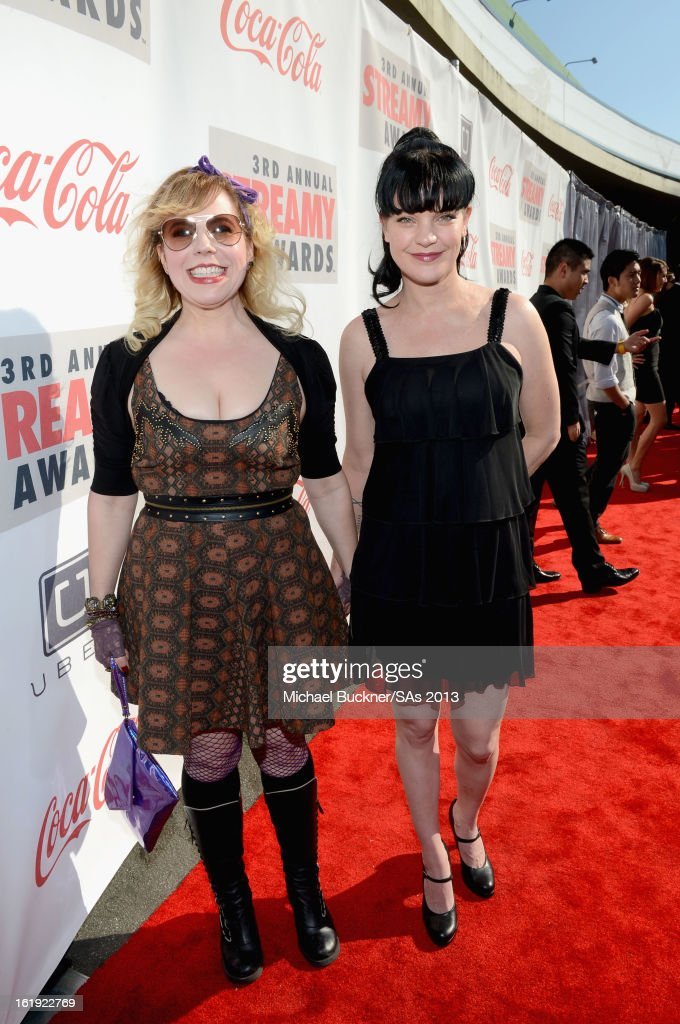 Actors <a gi-track='captionPersonalityLinkClicked' href=/galleries/search?phrase=Kirsten+Vangsness&family=editorial&specificpeople=2097625 ng-click='$event.stopPropagation()'>Kirsten Vangsness</a> and <a gi-track='captionPersonalityLinkClicked' href=/galleries/search?phrase=Pauley+Perrette&family=editorial&specificpeople=625846 ng-click='$event.stopPropagation()'>Pauley Perrette</a> attend the 3rd Annual Streamy Awards at Hollywood Palladium on February 17, 2013 in Hollywood, California.