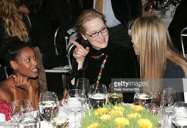 Actors Kissy Simmons Meryl Streep and Elizabeth Berkley attend the Kagenoorg benefit at Guastavino's October 30 2006 in New York City