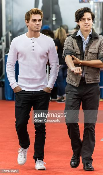 Actors KJ Apa and Cole Sprouse attend Wizard World Comic Con Philadelphia 2017 Day 4 at Pennsylvania Convention Center on June 4 2017 in Philadelphia...