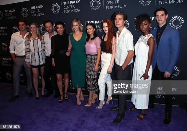 Actors KJ Apa Madchen Amick Luke Perry Marisol Nichols Lili Reinhart Camila Mendes Madelaine Petsch Cole Sprouse Ashleigh Murray and Casey Cott...