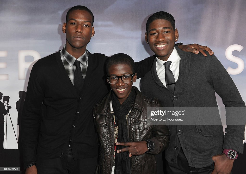 Actors Kofi Siriboe, Kwesi Boakye and Kwame Boakye arrive to Paramount Pictures' 'Super 8' Blu-ray and DVD release party at AMPAS Samuel Goldwyn Theater on November 22, 2011 in Beverly Hills, California.