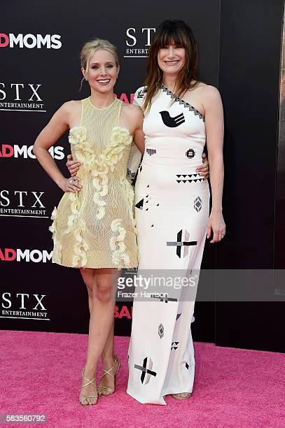 Actors Kristen Bell and Kathryn Hahn attend the premiere of STX Entertainment's 'Bad Moms' at Mann Village Theatre on July 26 2016 in Westwood...