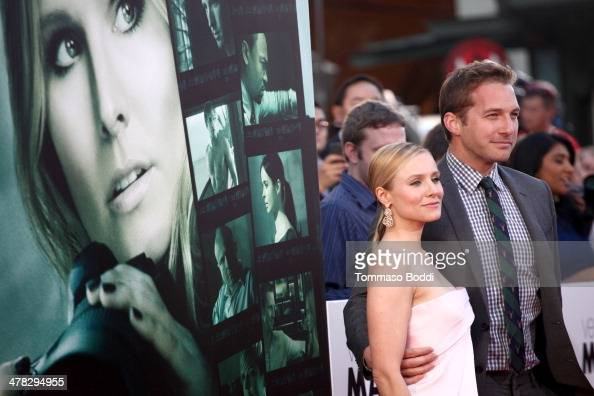 Actors Kristen Bell and Ryan Hansen attend the 'Veronica Mars' Los Angeles premiere held at the TCL Chinese Theatre on March 12 2014 in Hollywood...