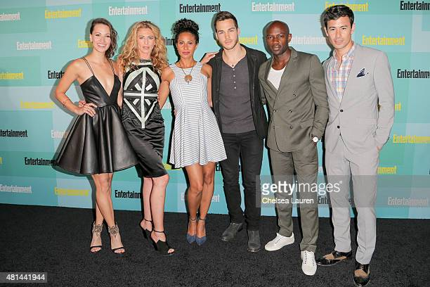 Actors Kristen Gutoskie Claudia Black Christina Marie Moses Chris Wood David Gyasi and George Young arrive at the Entertainment Weekly celebration at...
